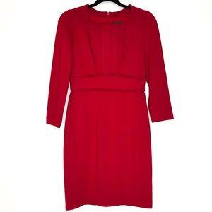 Arianna Papell Pintuck Ponte Sheath Dress Size 4P